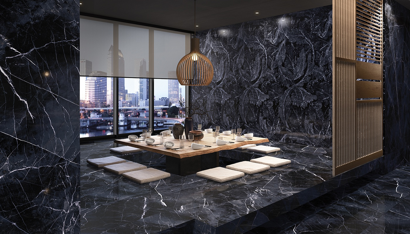 Tele Di Marmo Revolution commercial noir marble 3140